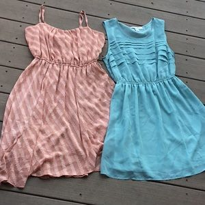 Set of 2 dresses from Forever 21, gently used, M